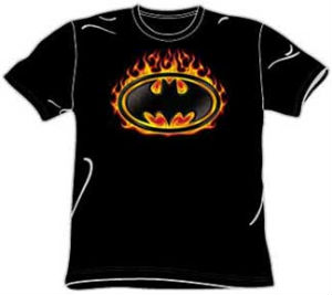 flame batman t-shirt
