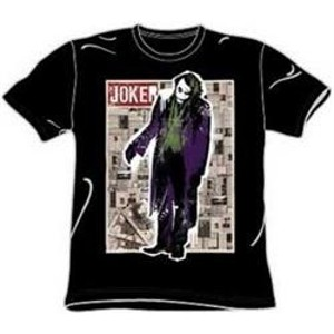 funny pages joker t-shirt