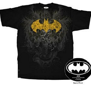 Gold Foil Spark Batman t-shirt