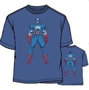 Captain America double side tee shirt