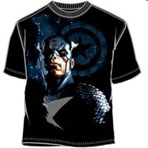 Patriotic Steve Rogers superhero t-shirt
