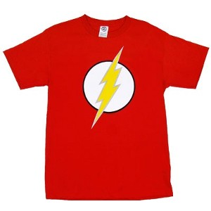 The Flash logo of the Flash superhero of DC Comics t-shirt