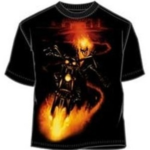 Ghost Rider on motorcycle bike t-shirt