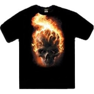 Ghost Rider skull flame head t-shirt