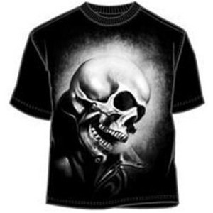 Ghost Rider white ink black t-shirt