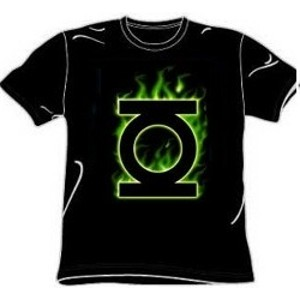 Flame logo Green Lantern t-shirt