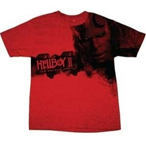 red hellboy t-shirt