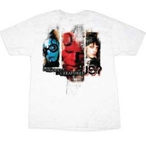 Hellboy, Liz Sherman, and Abe Sapien Hellboy 2 The Golden Army ungodly creatures movie t-shirt