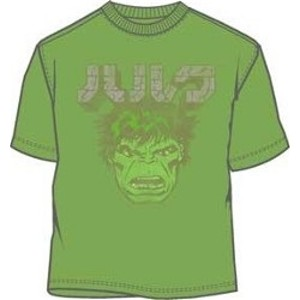Incredible Hulk face light green t-shirt