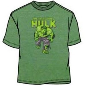 Incredible Hulk green sheer ringer t-shirt