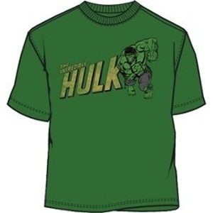 Retro drawing running Hulk t-shirt