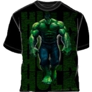 Incredible Hulk movie name and walking Hulk t-shirt