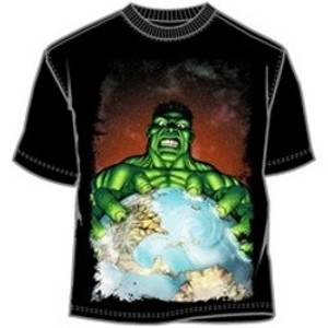 Giant Hulk hold the world in his hands t-shirt