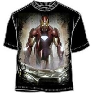 Invincible Iron Man breaking a ceiling t-shirt