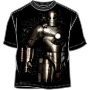 mach 1 suit of armor iron man t-shirt