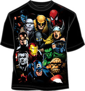 Crunch Time Marvel Comics t-shirt