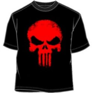 blood skull Punisher logo t-shirt