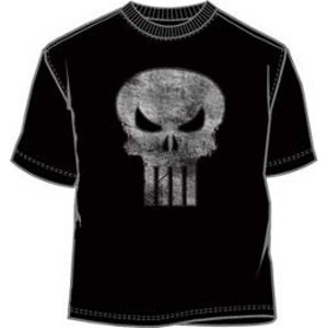 Faded and worn out Punisher skull logo