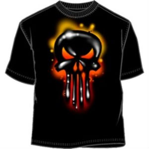 The Punisher liquid graffiti dripping skull logo