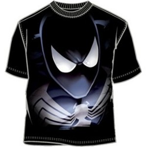 Closeup of Venom t-shirt
