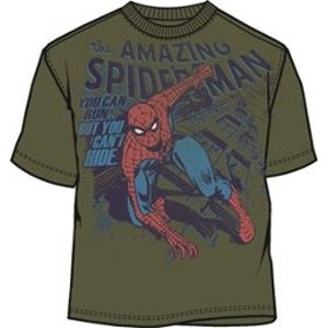Spiderman you can run but you can't hide t-shirt