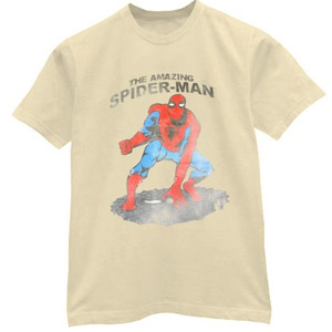 Classic retro style drawing Amazing Spiderman shirt