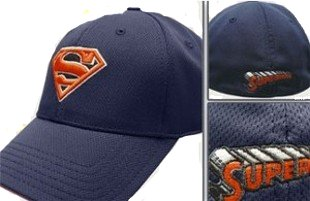 blue flex superman hat