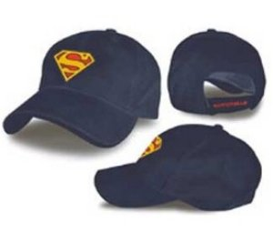 Superman blue flex baseball hat