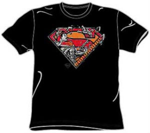 chain superman t-shirt