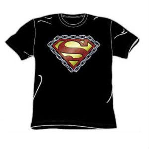 Chained up superman t-shirt