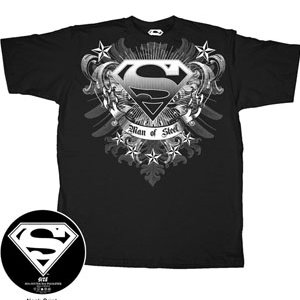 Superman crest man of steel t-shirt