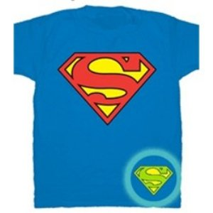 glow in the dark superman t-shirt