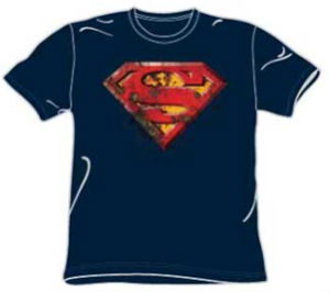 rust superman t-shirt