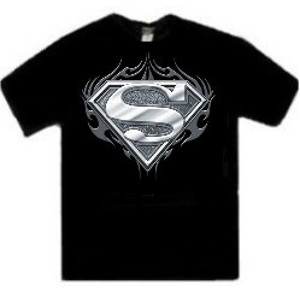 Superman metal cast biker logo t-shirt