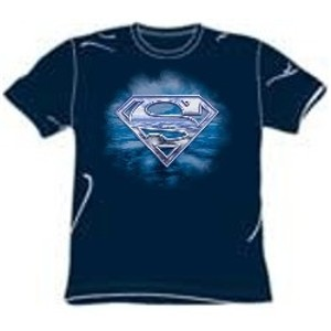 Freedom of flight clouds and sky Superman logo t-shirt