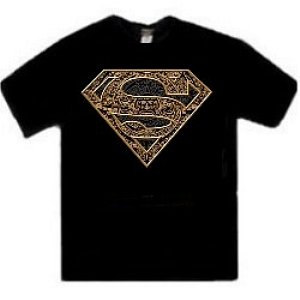 Tribal Superman logo t-shirt
