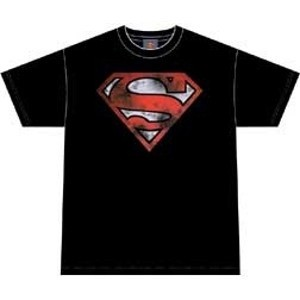 Superman war torn logo t-shirt